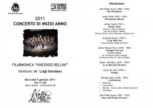 PROGRAMMA concerto inizio anno 2011