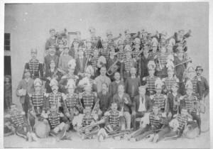 La banda nel 1880