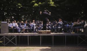 Un concerto della Banda, diretta dal M° Puzzolo, durante l'Aperitivo in Musica